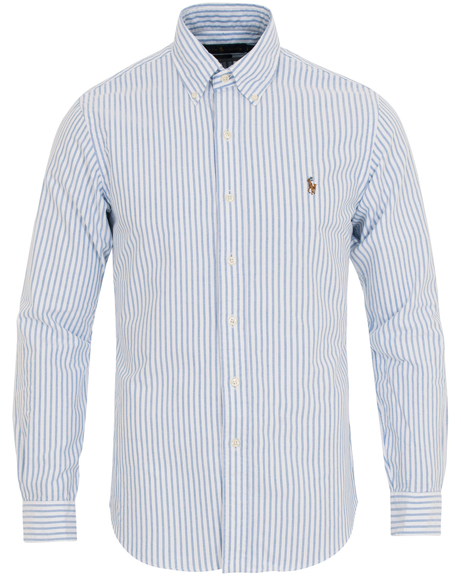 8bed8623 Polo Ralph Lauren Slim Fit Oxford Stripe Button Down Shirt Blue/White