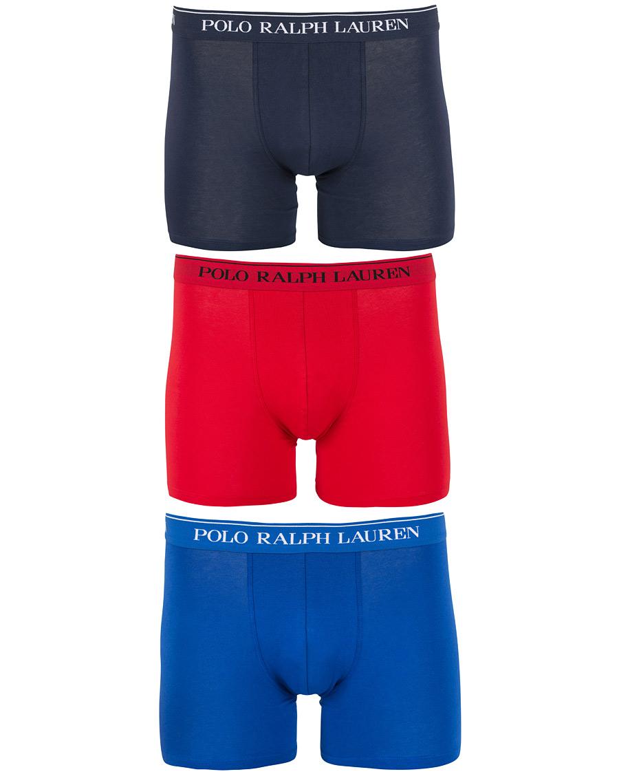 a2fdd136cf4 Polo Ralph Lauren 3-Pack Stretch Boxer Brief Navy/Red/Sapphire Blue