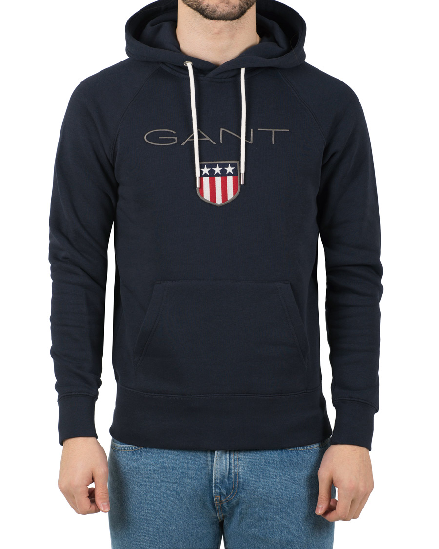 Gant Shield Sweat Hoodie Evening Blue