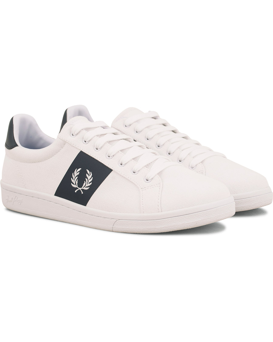 Fred Perry Parkside Canvas Sneaker WhiteNavy hos CareOfCarl.dk