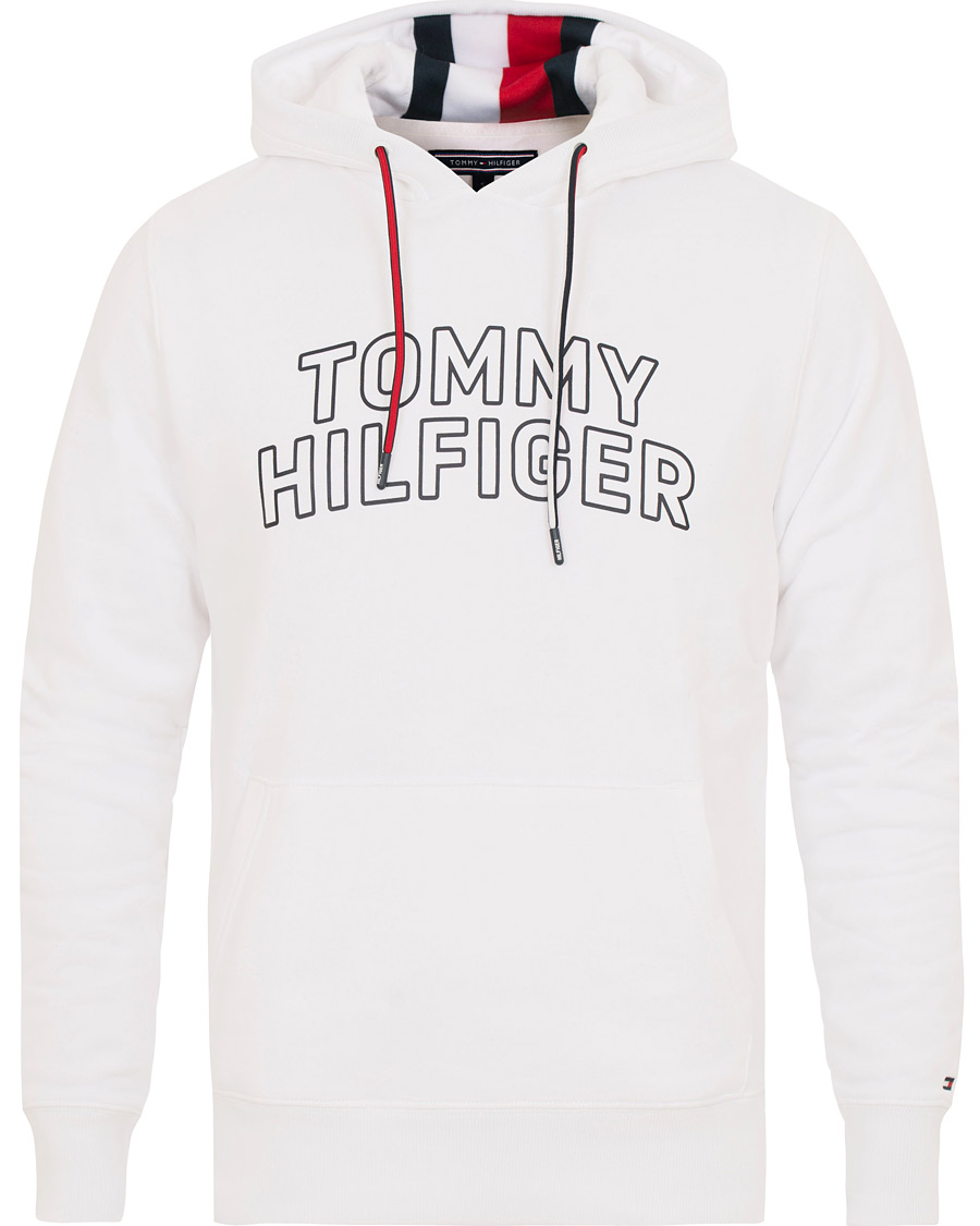 557069cfc Tommy Hilfiger Chest Logo Hoodie Bright White hos CareOfCarl.dk