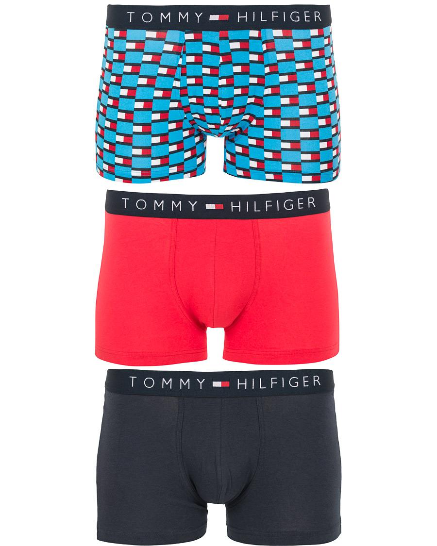 d3df3134086 Tommy Hilfiger 3-Pack Print Color Flag Trunk Malibu/Lollipop/Navy