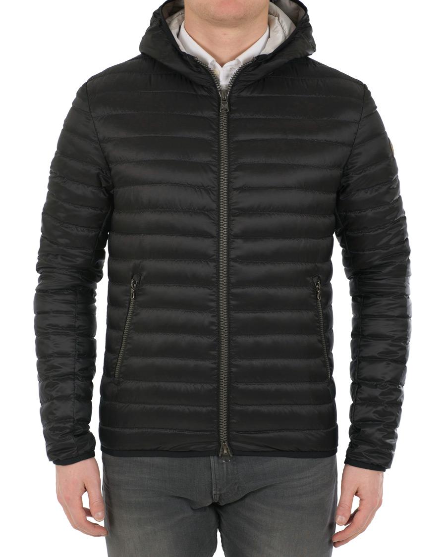 Lightweight Down Hooded Jacket Black