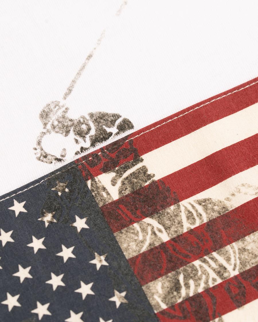 Polo Ralph Lauren American Flag Crew Neck Tee White hos