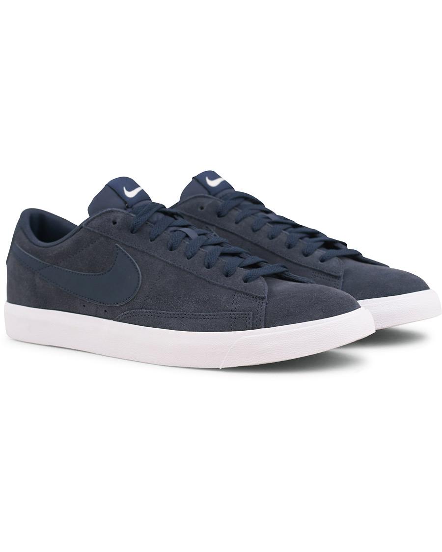 official photos 2a10d a9e4c Nike Blazer Low Suede Sneaker Navy