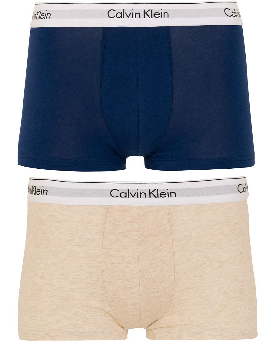 f36a3e0869c Calvin Klein Modern Cotton Stretch 2-Pack Trunk Blue/Grey i gruppen Tøj /
