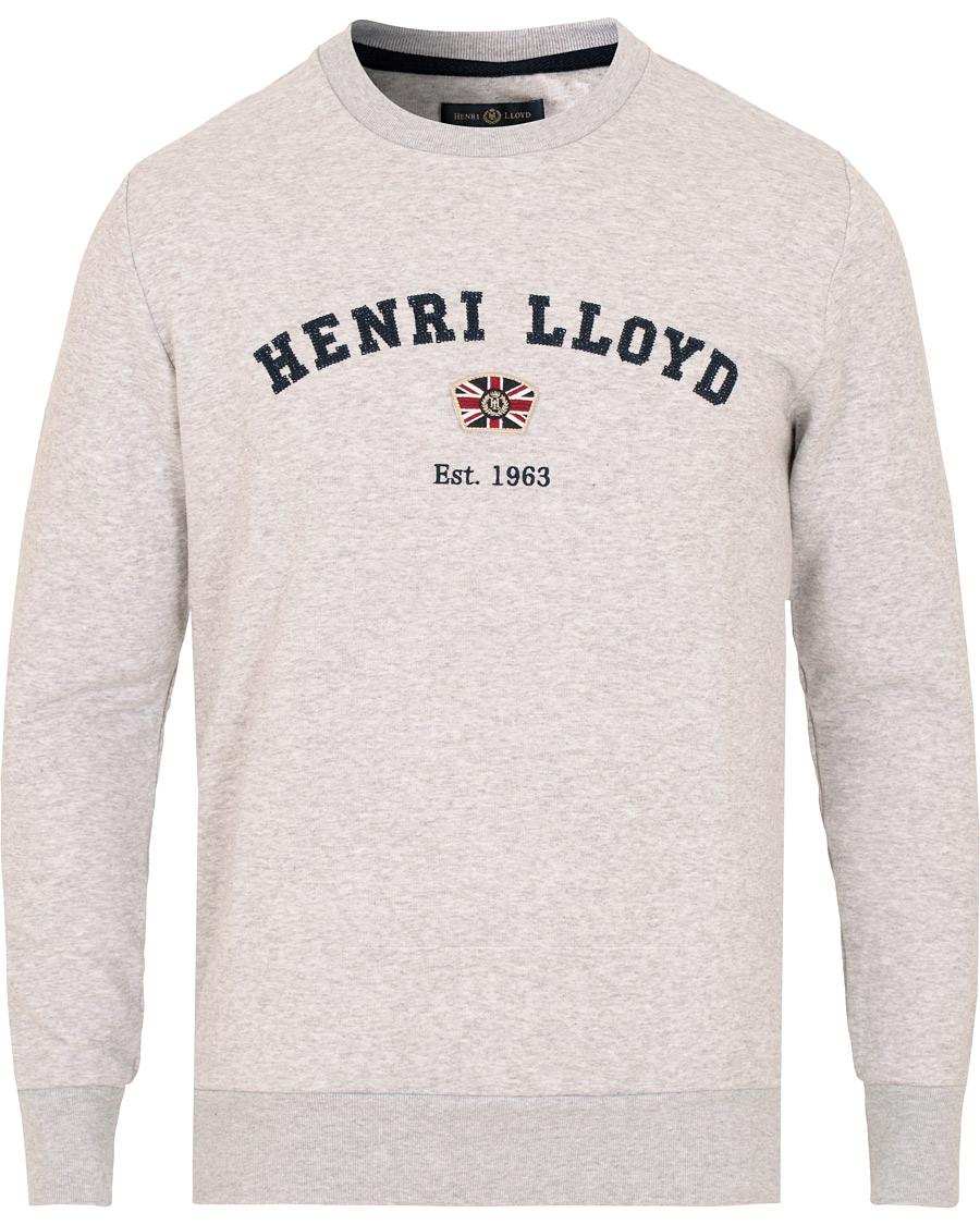 41b28d8564e0 Henri Lloyd Kyme Branded Sweatshirt Grey Marl hos CareOfCarl.dk