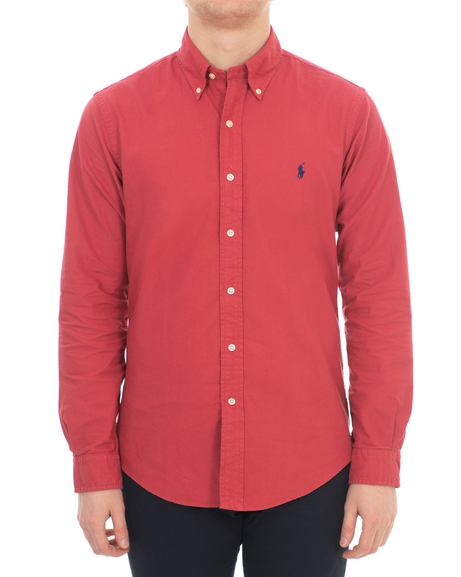 Shirt Peppe Slim Fit Garment Lauren Polo Ralph Oxford Chilli Dyed yv0OPnmN8w