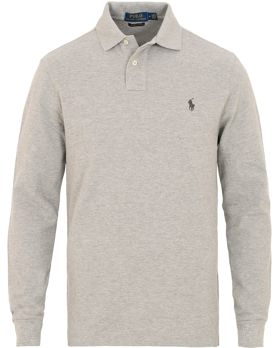 5843c12cb88f Polo Ralph Lauren Custom Slim Fit Long Sleeve Polo Andover Heather