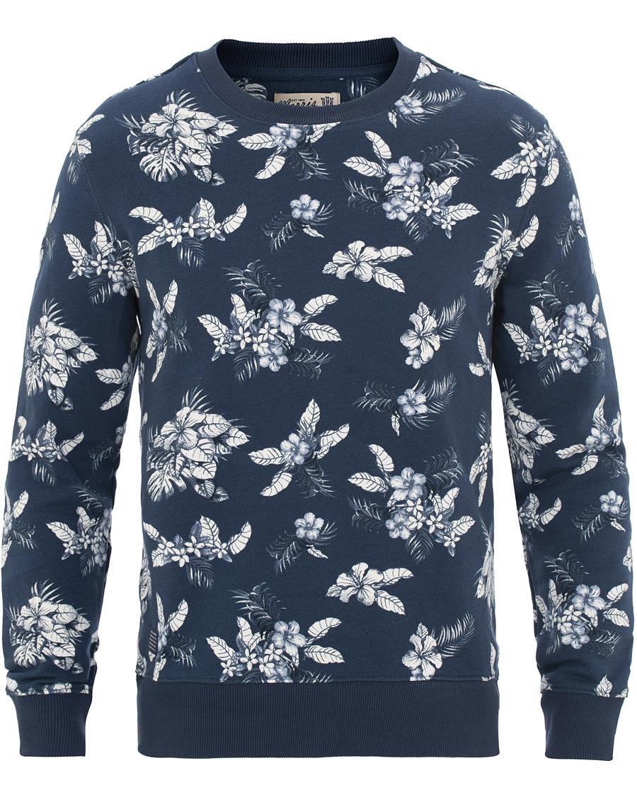 Allover Careofcarl dk Colby Navy Morris Hos Print Sweatshirt HW9EbDIe2Y