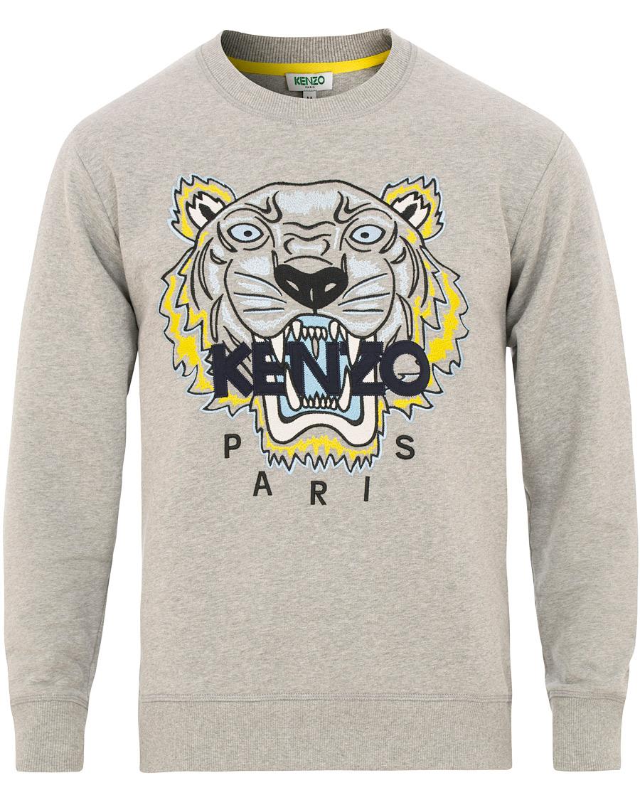 131e5778b27 Kenzo Tiger Classic Sweatshirt Grey Melange hos CareOfCarl.dk