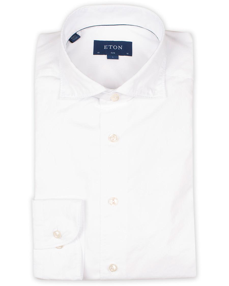 fc24afcd138 Eton Slim Fit Lightweight Twill Shirt White hos CareOfCarl.dk