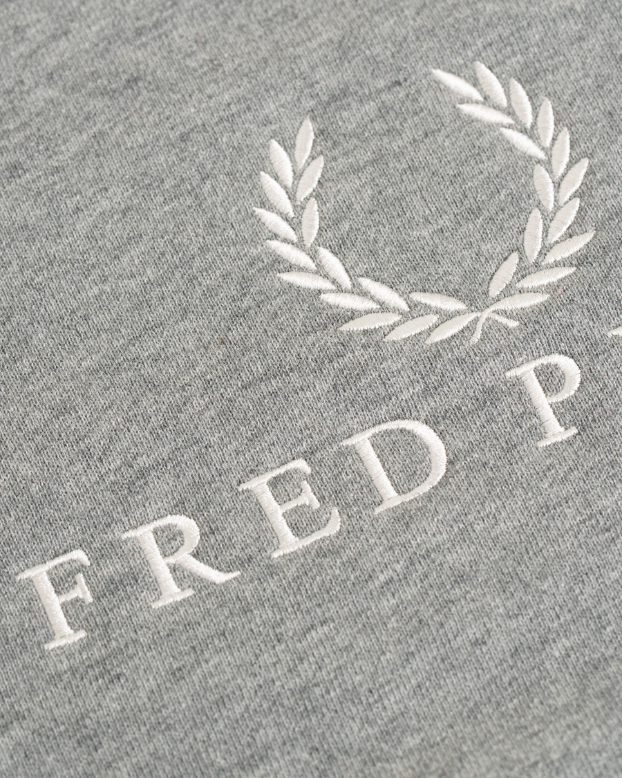 4373a87e1d0 Fred Perry Embroidered Logo Crew Neck Sweatshirt Steel Marl hos C