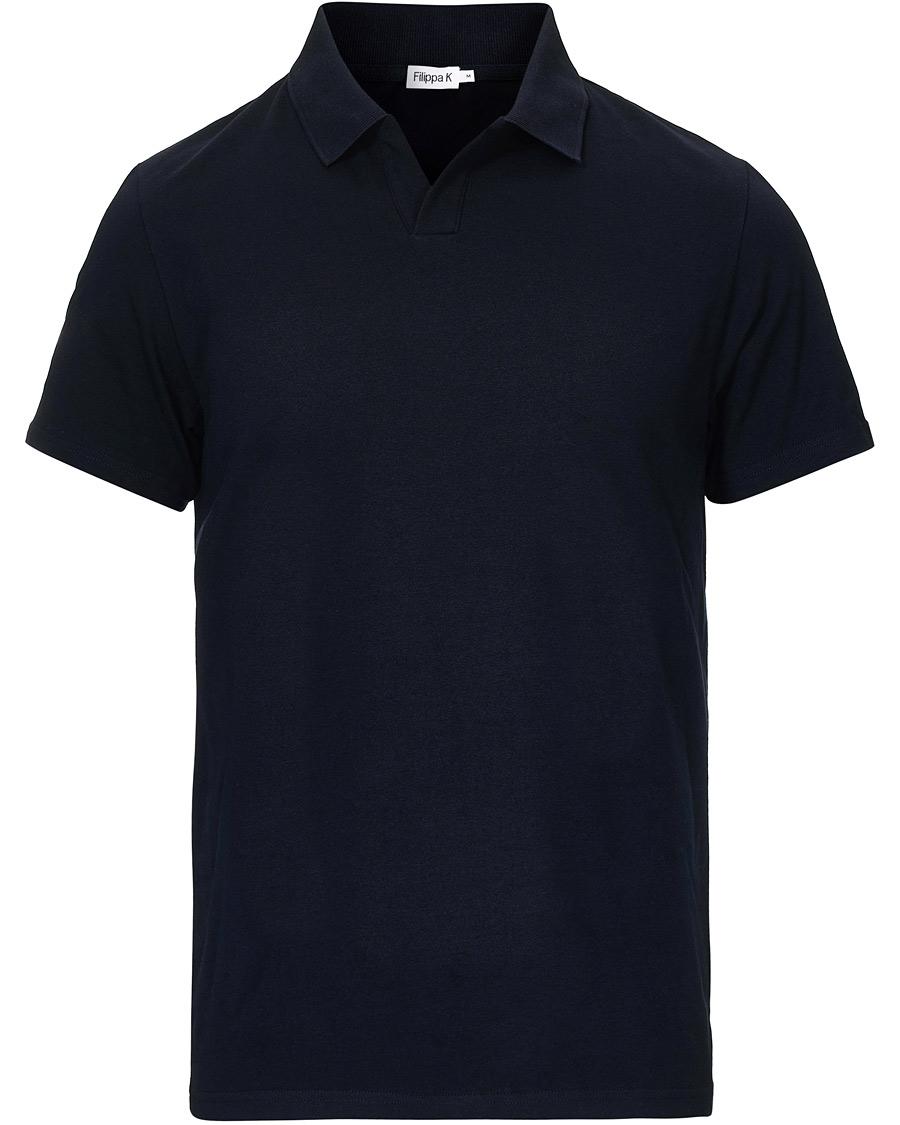 Filippa K Soft Lycra Polo T Shirt Navy XS