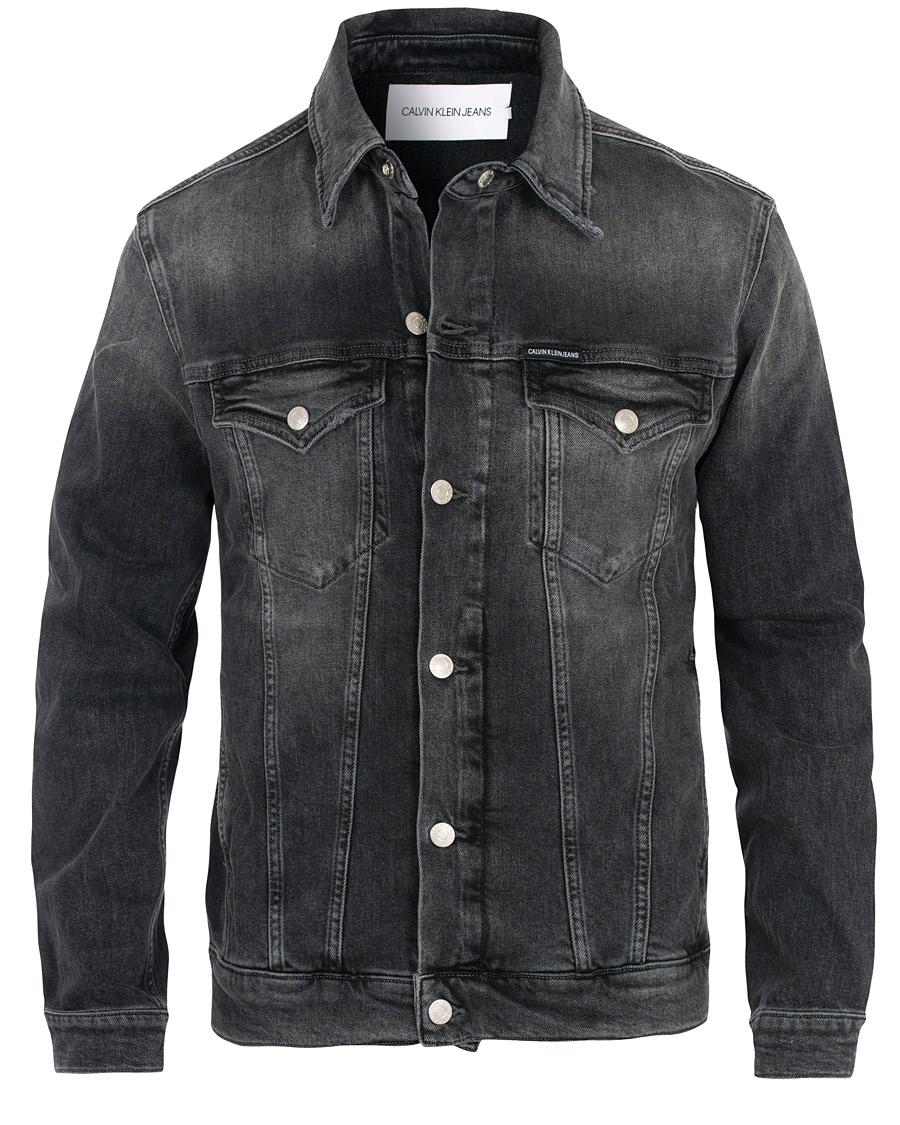 Calvin Klein Jeans Foundation Denim Jacket Washed Black