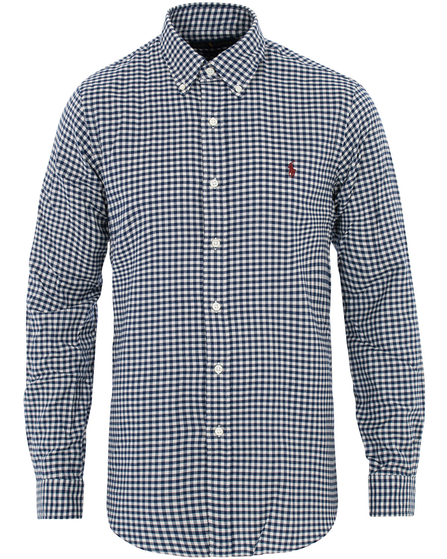 Polo Ralph Lauren Custom Fit Twill Check Shirt BlueWhite S