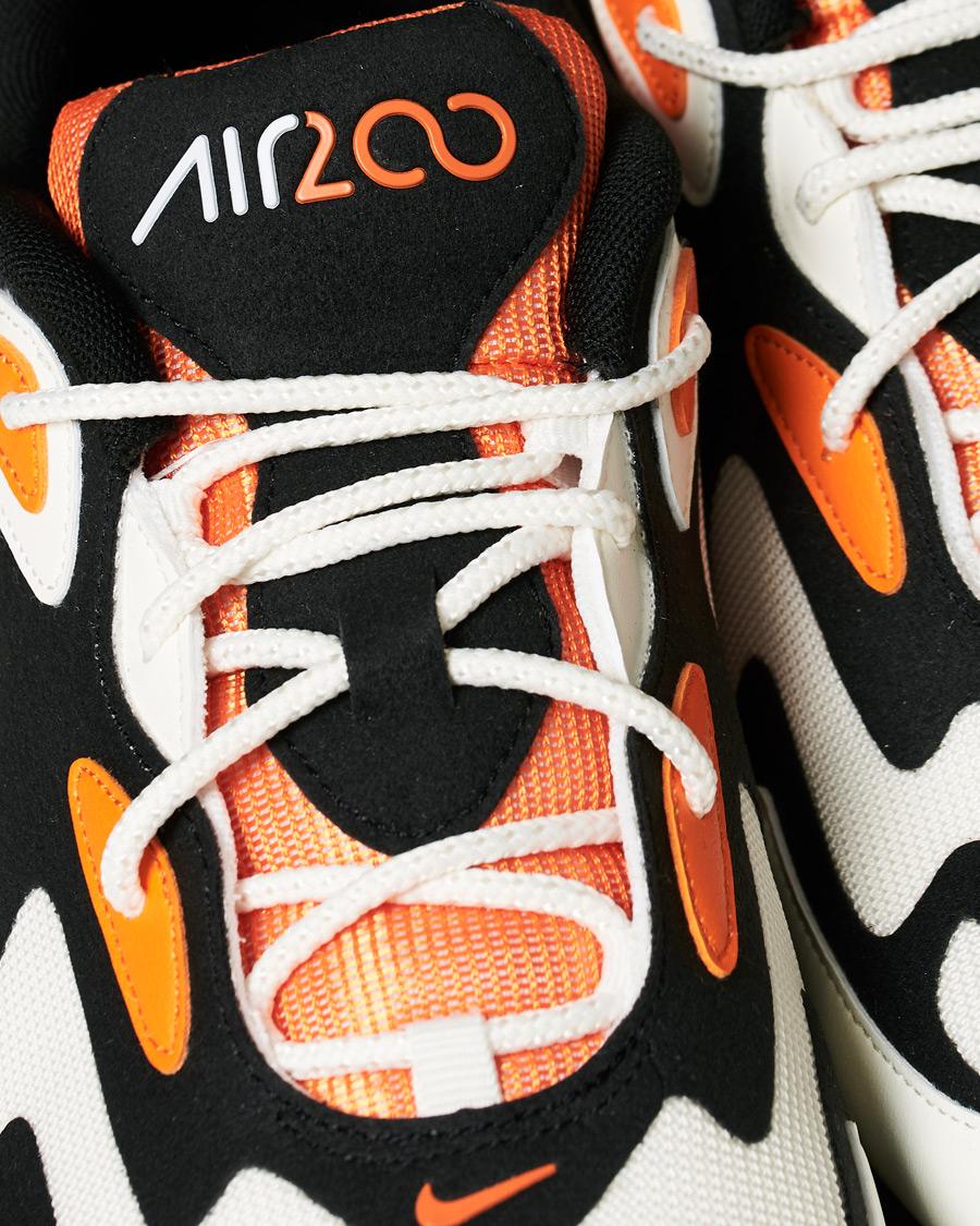Nike Air Max 200 Sneaker BlackMagma Orange CareOfCarl.dk