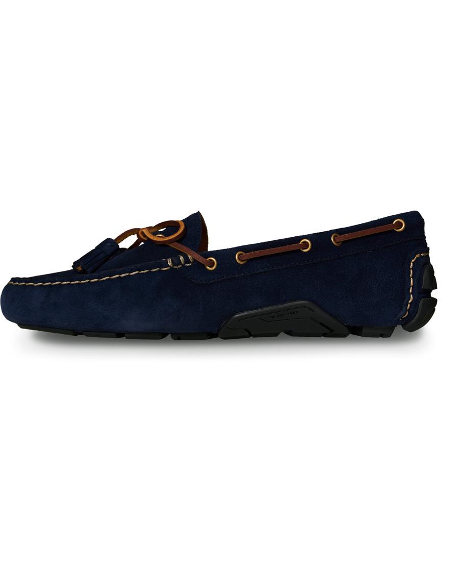 Polo Ralph Lauren Anders Tassel Driving Shoe Navy Suede US7 EU40
