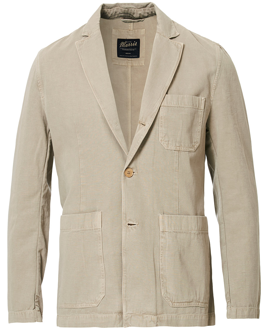 Morris Claridge Cotton Blazer Khaki S