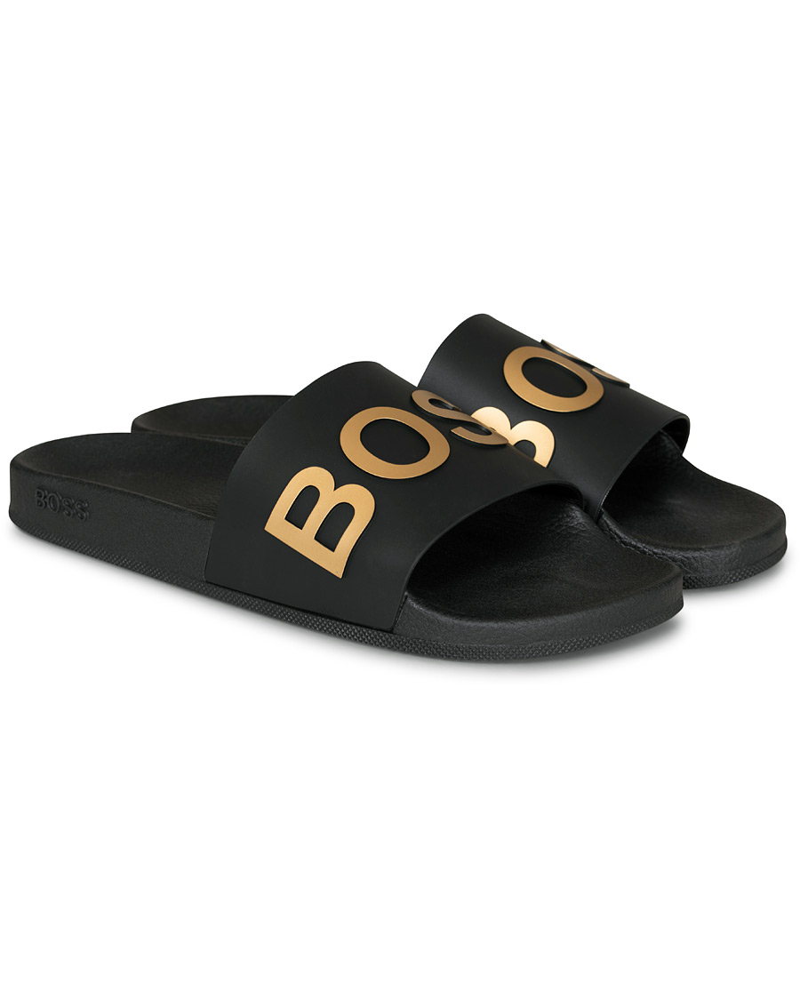 BOSS Bay Slide Flip Flop BlackGold 40
