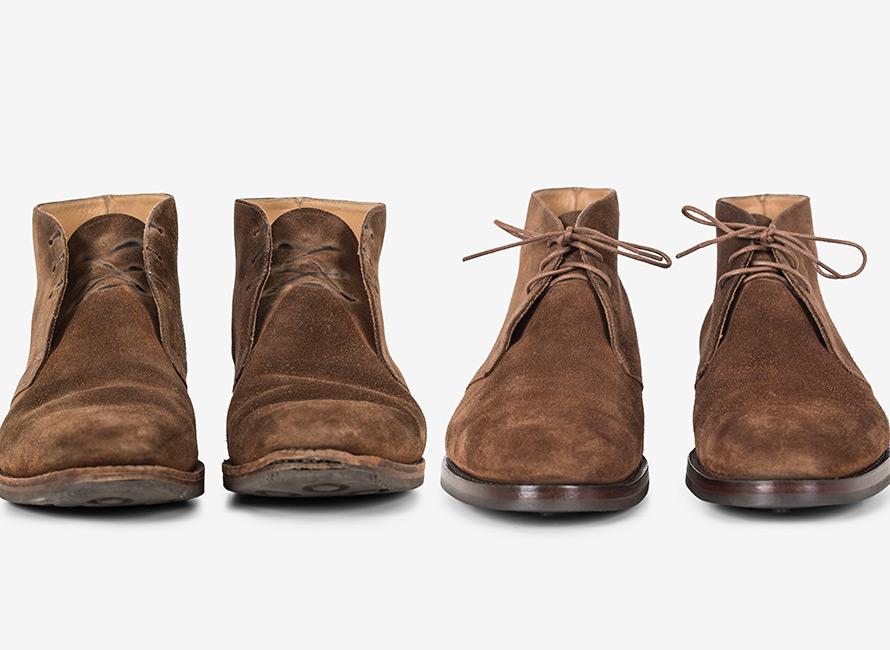 Istandsættelse af sko: fra udslidt til ny | CareOfCarl.dk